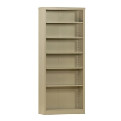 "84""H 6 Shelf Unassembled Steel Bookcase, 32049"