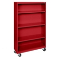 "Mobile Four Shelf Bookcase - 58""H, 32981"