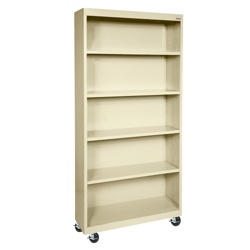 "Mobile Four Shelf Bookcase - 78""H, 32982"