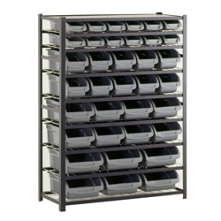 "36 Bin Steel Shelving Unit - 44""W x 16""D x 57""H, 36233"