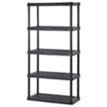 "5 Tier Plastic Shelving Unit - 36""W x 18""D x 72""H, 36237"