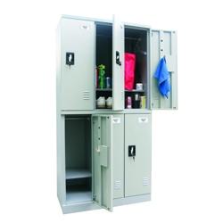 """36""""W x 72""""H Unassembled Steel 6 Locker Unit, 36246"""