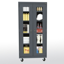 """Five Shelf Mobile Cabinet with ClearView Doors - 36""""W x 78""""H, 36563"""