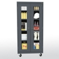 "Five Shelf Mobile Cabinet with ClearView Doors - 36""W x 78""H, 36563"