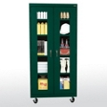 "Five Shelf Mobile Cabinet with ClearView Doors - 36""W x 24""D, 36564"