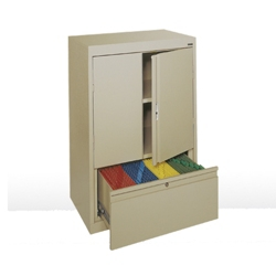 "Counter Height Storage Cabinet with File Drawer -  30""W , 36580"