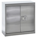 "Stainless Steel Wall Cabinet with Paddle Lock - 30""W x 12""D x 30""H, 36598"