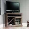 Corner TV Stand with Glass Door, 43498
