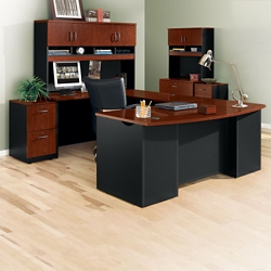 Complete U-Desk Office Set with Locking Files, 14767