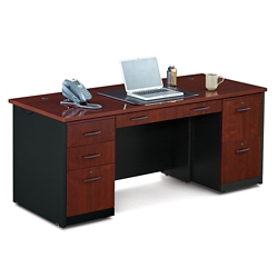 Black Desks | Find Double Pedestal Desks & Black Executive Desks ...
