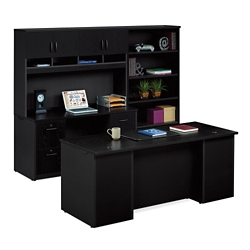 Executive Desk and Locking Storage Wall Set, 14780