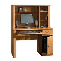 Compact Computer Desk with Hutch, 13528