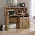 "Single Pedestal Desk with Hutch- 54""W, 14896"