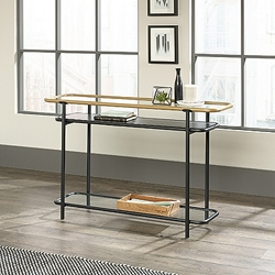 """Console Table with Safety-Tempered Glass Shelves - 46""""W x 13""""D, 220201"""