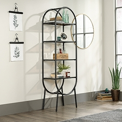 "Open Shelving with Safety-Tempered Glass Shelves- 22""W x 13.5""D x 70""H, 220204"