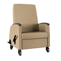 "Recliner with 24""W Seat and Central Lock/Steer - 600 lb Weight Capacity, 26718"