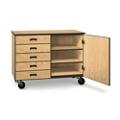 "Five Drawer Mobile Storage Cabinet - 36""H, 36277"