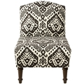 Armless Traditional Fabric Upholstered Chair, 220089