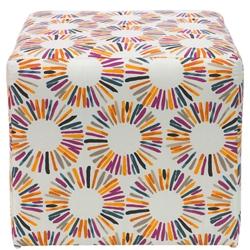 Cubed Fabric Ottoman , 220098