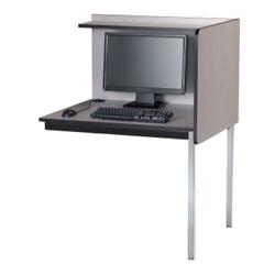 Fixed Height Adder Computer Carrel, 13741