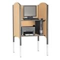 Adjustable Height Kiosk Carrel with CPU Shelf, 13743