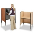 Adjustable Height Kiosk for Standing or Sitting, 13744