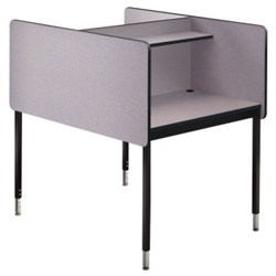 Adjustable Height Two Sided Carrel- Starter, 13747