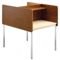 Fixed Height Two-Sided Carrel- Starter, 13751