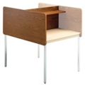 Fixed Height Two-Sided Carrel- Adder, 13752