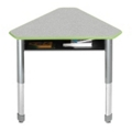 Diamond Adjustable Height Mini Student Desk with Book Box, 13738