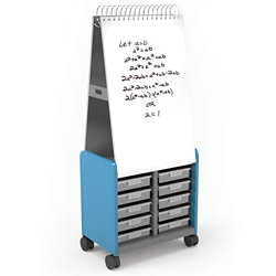 "29""W x 71""H Mobile Whiteboard with Storage Cabinet, 37412"