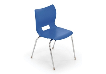 "Poly Shell Stack Chair 16""H, 51632"