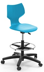 Adjustable Height Stool with Casters, 51801