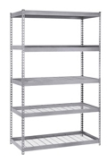 "Boltless Five Shelf Steel Shelving 48"" W x 24"" D x 72"" H, 37034"