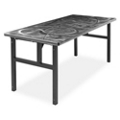 "Aluminum Swirl Table with H Legs -  60"" x 30"" , 41868"