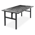 "Aluminum Swirl Table with H Legs -  60"" x 36"" , 41871"