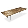 "Aluminum Swirl Table with H Legs -  96"" x 36"" , 41873"