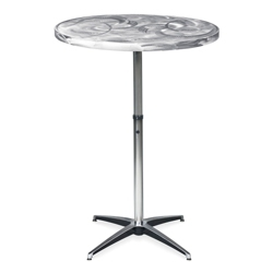 "Aluminum Swirl Adjustable Height Table -  30""DIA, 41875"