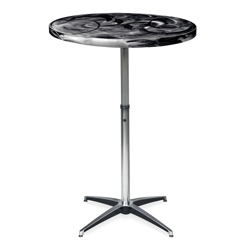 "Aluminum Swirl Round Adjustable Height Table -  36""DIA, 41877"