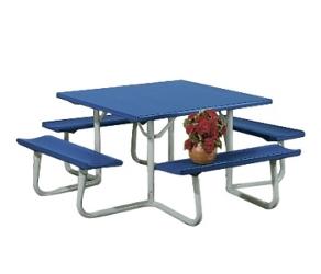"""48""""W x 48""""D Aluminum Picnic Table, 91357"""