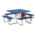 "48""W x 48""D Aluminum Picnic Table, 91357"