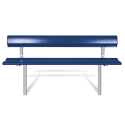 Mounted Bench with Backrest - 6 ft, 85827