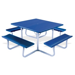 "Picnic Table with Umbrella Hole 48"" Square, 86224"