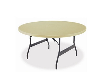 "Aluminum Folding Table with Wishbone Legs 48"" Diameter, 46789"