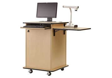 "Compact Multimedia Cart - 40""H, 43476"