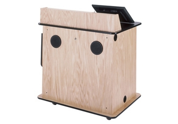 "Compact Multimedia Lectern With Power - 43""H, 43480"