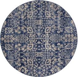 "Floral Tribal Print Area Rug 5'6""DIA, 91628"