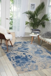 """Marbelized Area Rug 7'9""""W x 10'10""""D, 99009"""