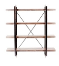 "Four Open Shelf Bookcase- 64""H, 33075"