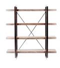 "Four Open Shelf Bookcase- 64""H, 33075"